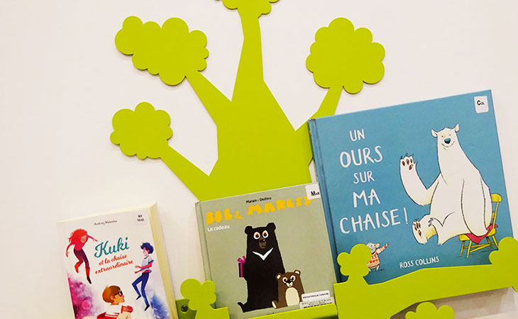 photo de détail de l'arbre à livres