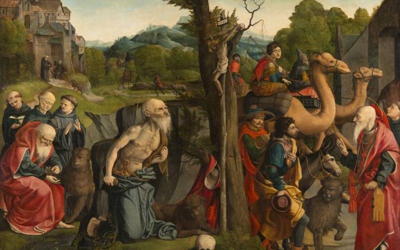 Guérard Grégoire,Triptyque de saint Jérôme, partie centrale, 1518, peinture sur bois, INV. 866.2, Ville de Bourg-en-Bresse - Monastère royal de Brou ©Carine Monfray