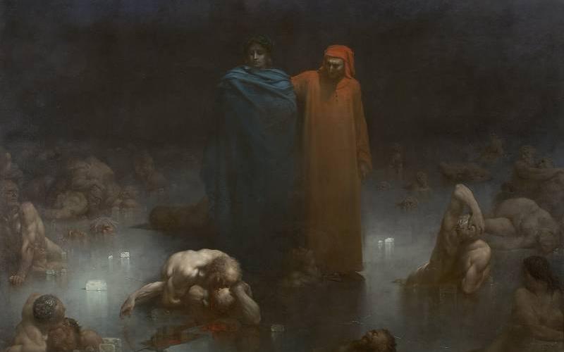Virgile et Dante dans le 9e cercle de l'Enfer, Gustave Doré (1832-1883), 1861 - inv. 982.234 - photo Hugo Maertens